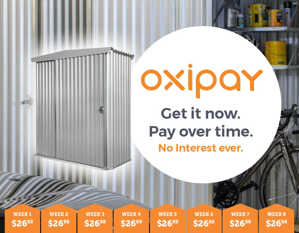 SAVER HANDI-MATE SHED ONLY $215 OR PAY OVER TIME WITH OXIPAY