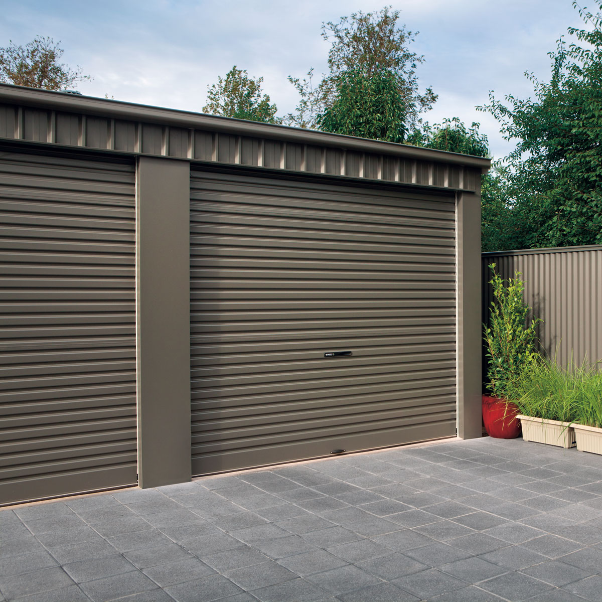 Garages sheds rural industrial sheds stratco choose from both flat and gable roof styles and a huge range of garage sizes from small domestic units to large commercial and farm sheds solutioingenieria Image collections