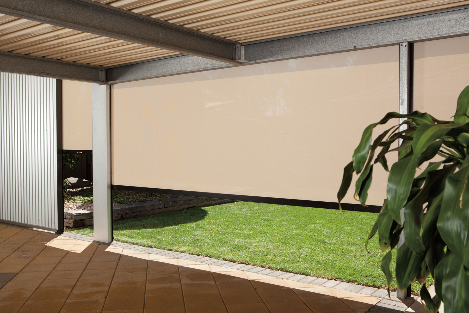 Ambient Outdoor Blinds Stratco Jpg 1800x1200 Covered Outdoor Patio Blinds