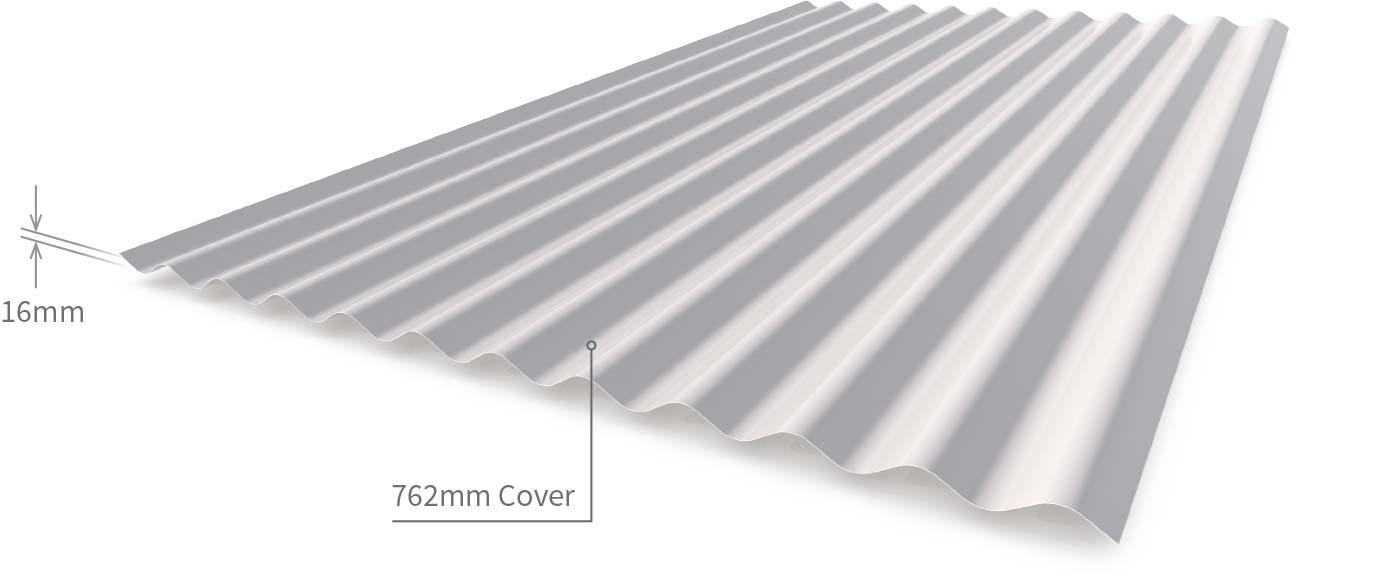 Corrugated 42mm Bmt Zn Al