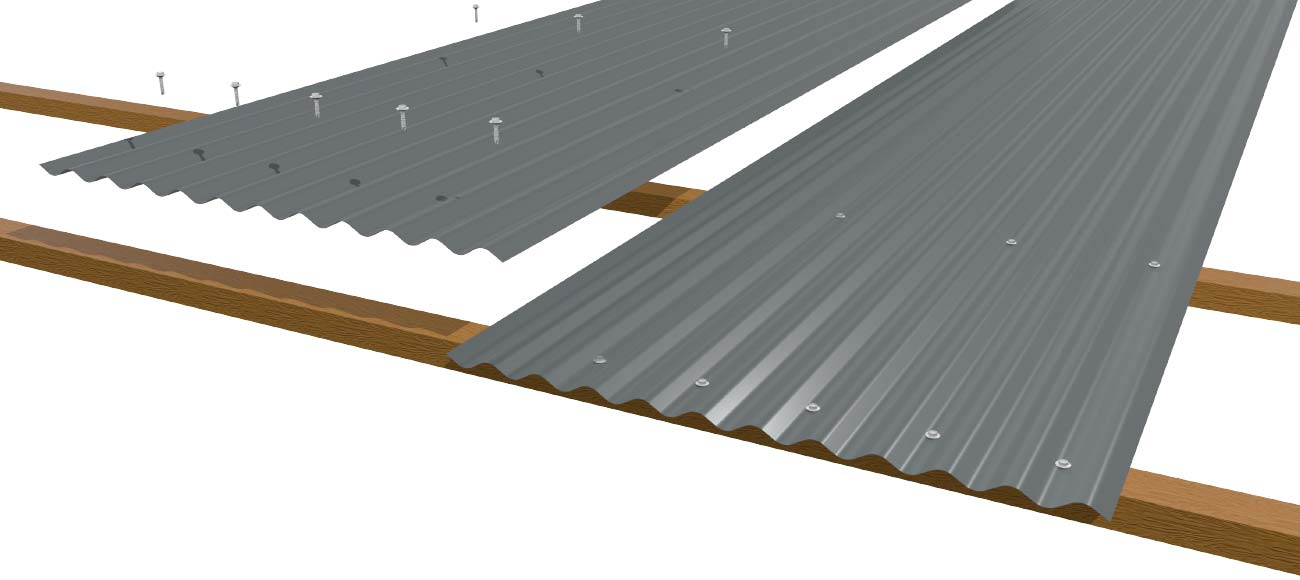 Cladding Roofing Sheeting Walling Corrugated CGI Wall Laying