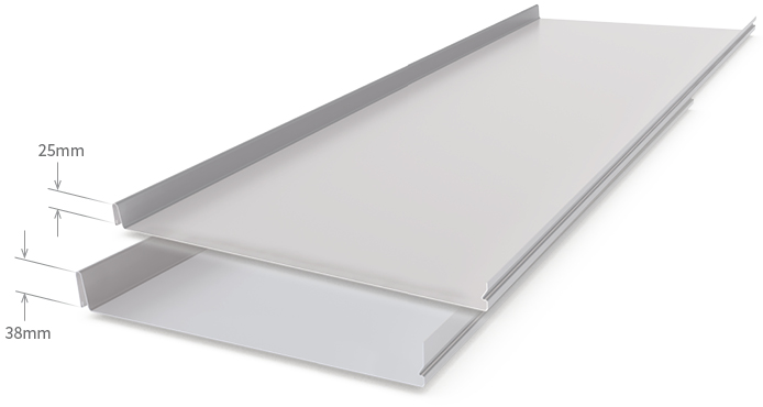 Cladding Roofing Sheeting Walling Hiland Tray Snaplock Profile