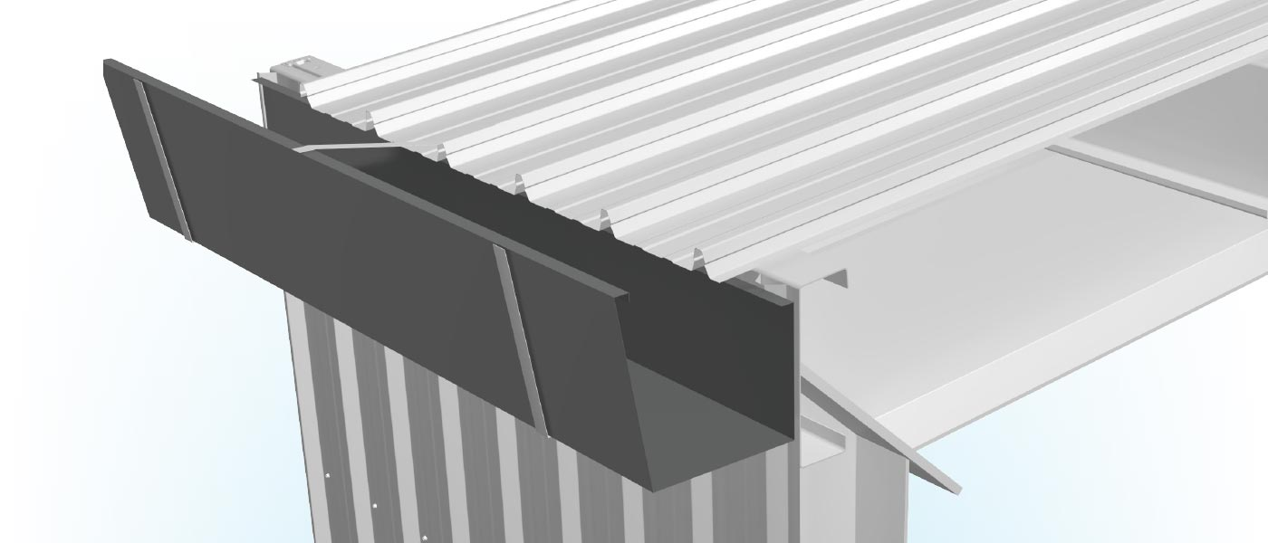 Flashings Roof Flashing Industrial Eaves Gutter