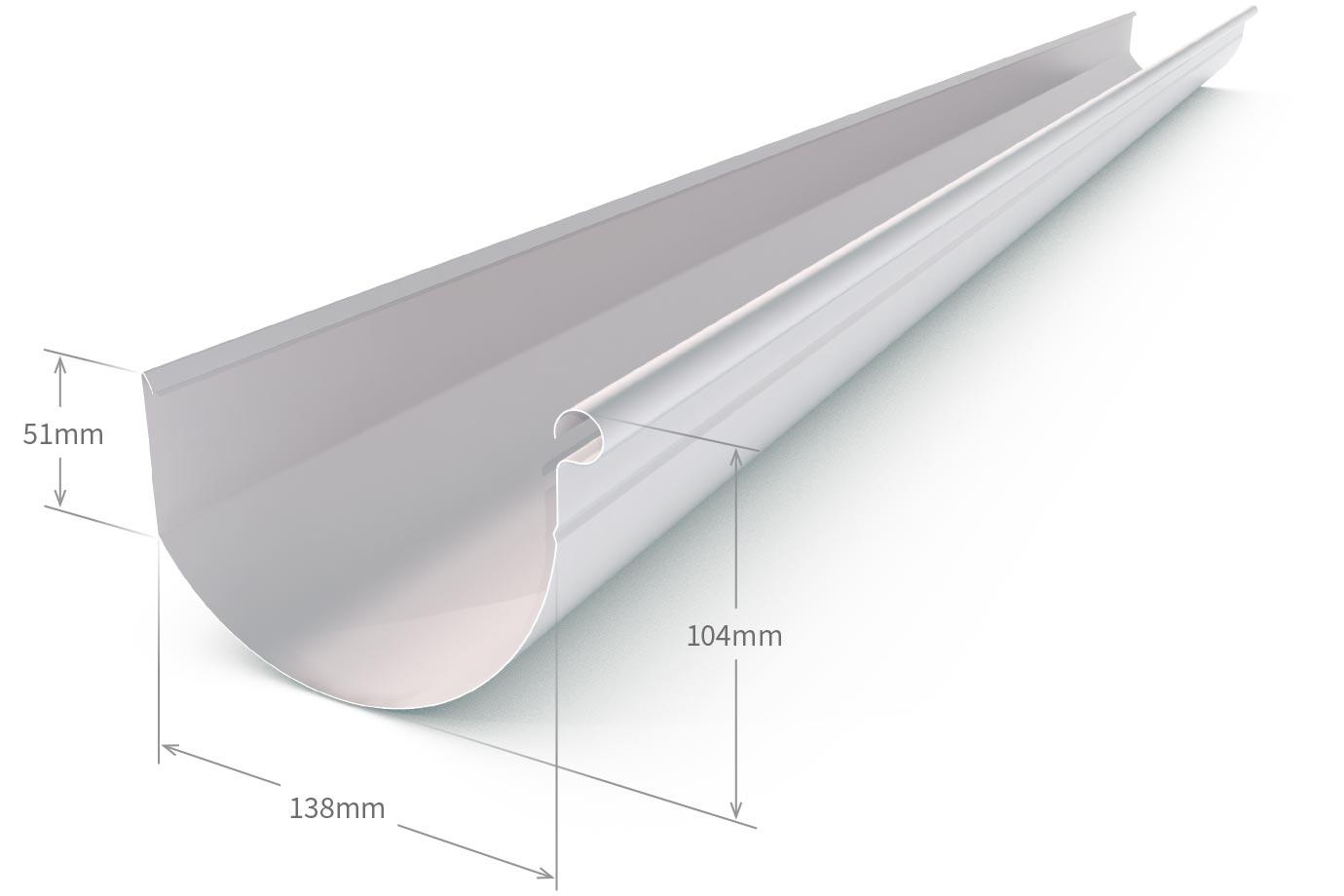 Smoothline Gutter Zinc Aluminium