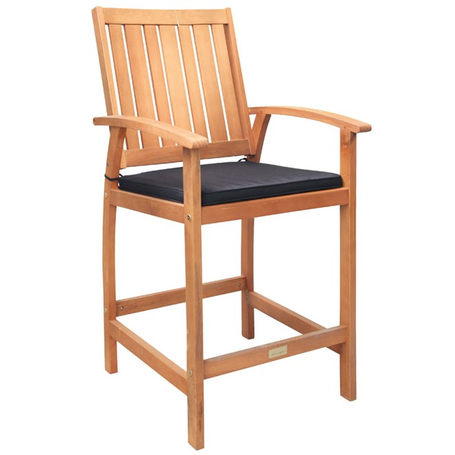 Sunscape Tarkine Mid-Height Timber Bar Chair with Cushion on Sunscape Outdoor Living id=29779