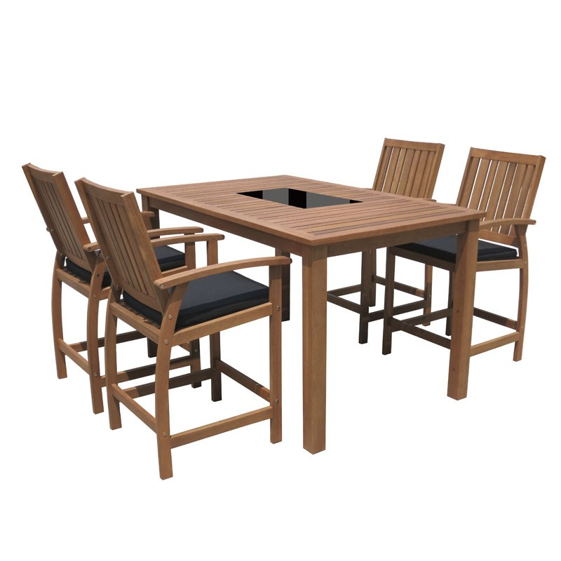 Sunscape 5 Piece Mid Height Bar Setting on Sunscape Outdoor Living id=53162