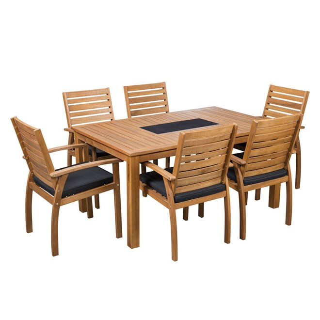 Sunscape Tarkine 7 Piece Timber Setting on Sunscape Outdoor Living id=62144
