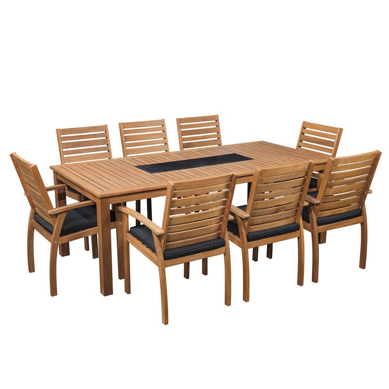 Sunscape Tarkine 9 Piece Timber Dining Setting on Sunscape Outdoor Living id=72706