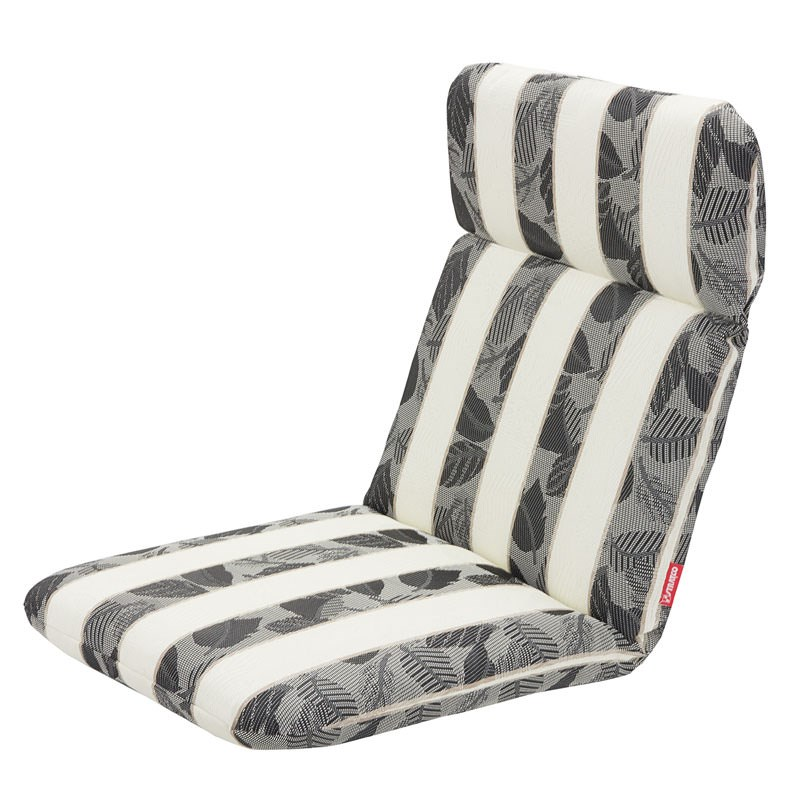 Stratco Stripe Textiline Outdoor Back, White Outdoor Furniture Cushions