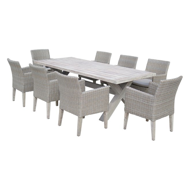 Tahiti 9 Piece Timber Dining Setting on Sunscape Outdoor Living id=41586
