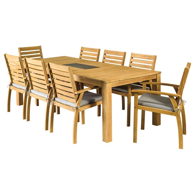 Savanna 9 Piece Timber Dining Setting on Sunscape Outdoor Living id=53865