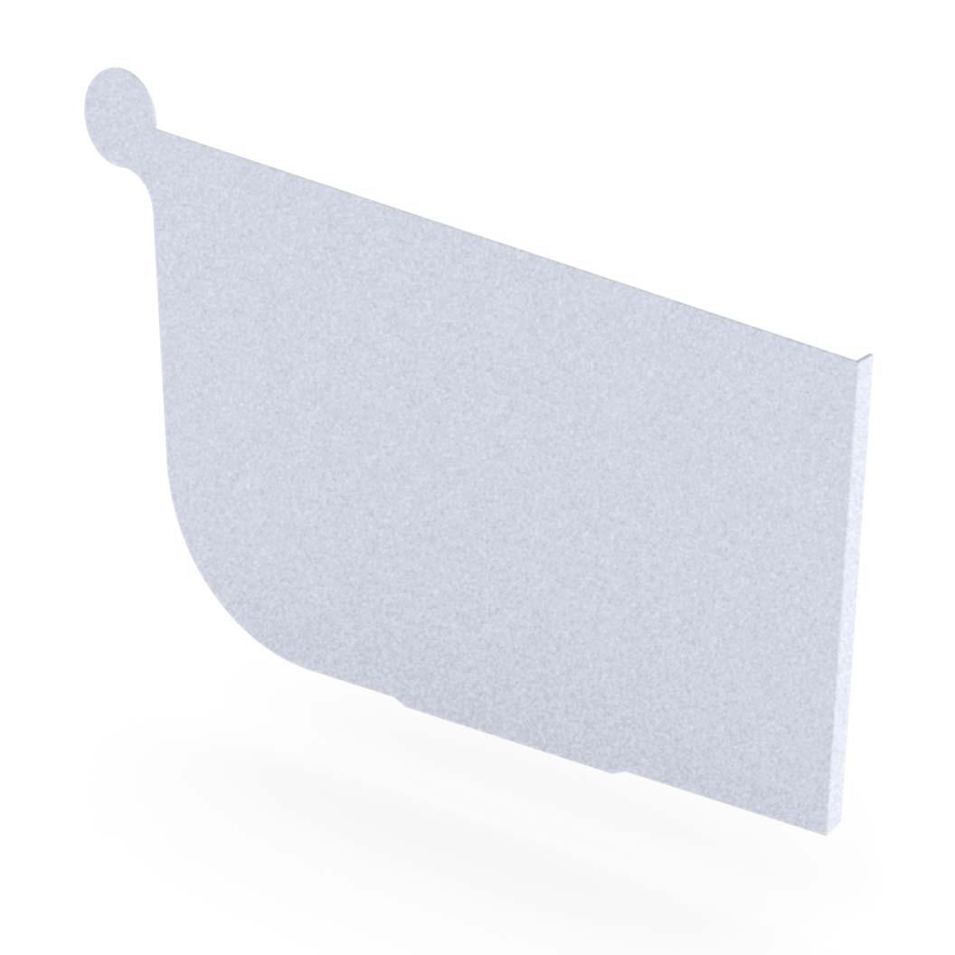 Quad Gutter 150 Stop End Right Hand Zinc Aluminium